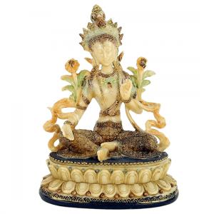 Green Tara Female Buddha - 17 cm