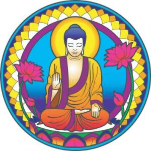 Window sticker Buddha Nature