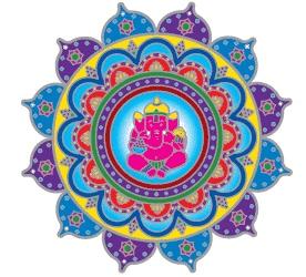 Window sticker Ganesha