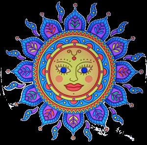 Window sticker Golden Sun