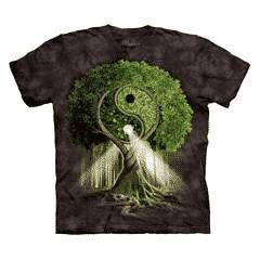 T Shirt Mountain Artwear Yin Yang Tree Black S