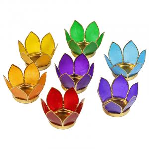 Lotus Atmospheric lights Chakras 7 Gold edge