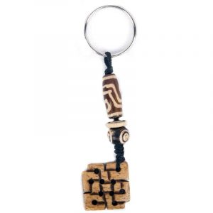 Key ring Endless Knot Brown