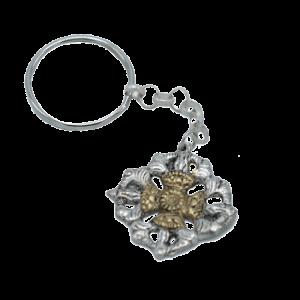 Key ring Dual Dorje Metal