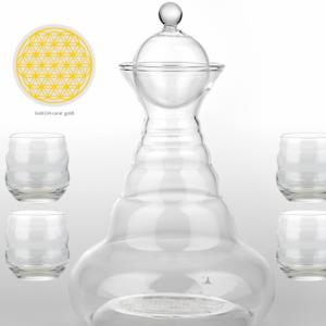 Ground water juggler  4 Mythos Glass Gold