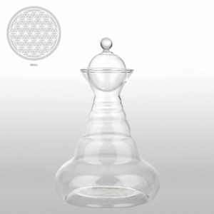 Vitality Water Carafe White Delicate with Flower of Life White
