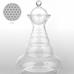 Ground water jug Platin Alladin with Flower of Life Platinum