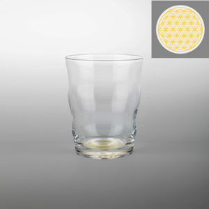 Drinking glass Jasmina with Flower of Life Gold