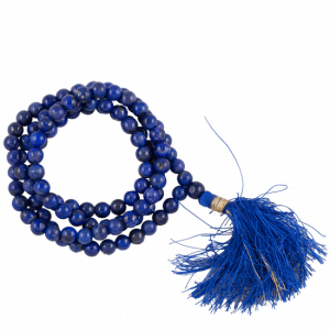 Mala Lapis Lazuli AA Quality 108 Beads with Bags
