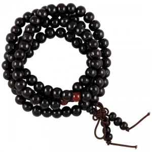 Mala Wood with Ornamental Beads