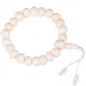 Mala Bone Natural with Guru Bead 21 Beads