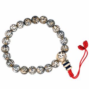 Mala Scallop Engraved OMPMH 21 Beads