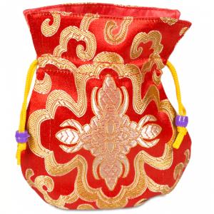 Brocade bag Red Lined