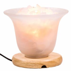Rock crystal plus Himalayan Salt crystal Lamp