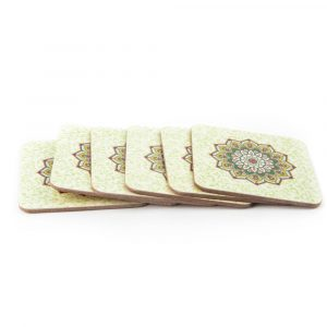Mandala Coasters Green (Set of 6)