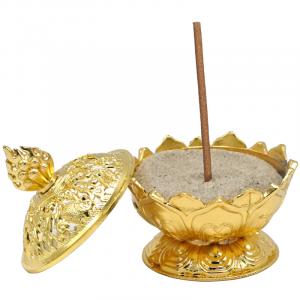Incense burner Lotus Gold Coloured