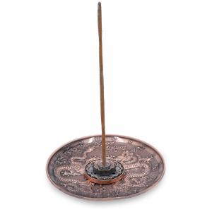 Incense burner Dragons Copper-coloured