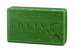 Natural Marseille Soap Olive with leaves