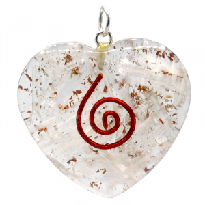 Orgon Hanger Selenite Heart shaped