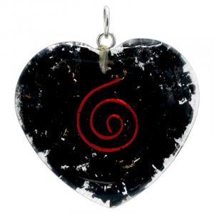 Shungite Hanger Heart shaped