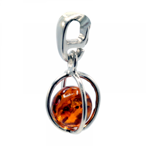 Pendant Sterling Silver with Amber Ball