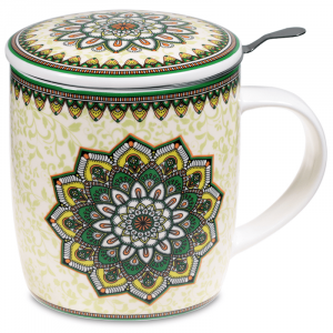 Tea Mug Set Mandala Green
