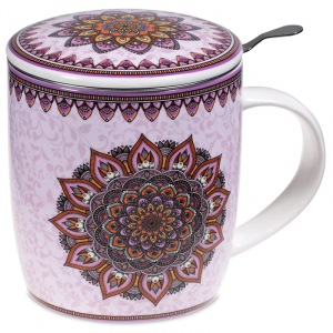 Tea Mug Set Mandala Purple