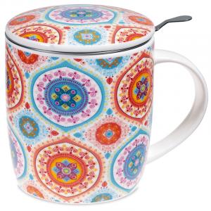 Tea Mug Set Mandala Blue
