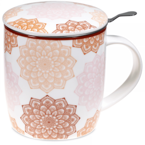 Tea Mug Set Mandala Pink