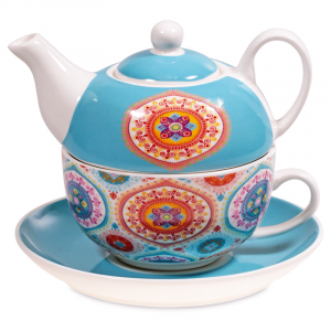 Tea for One Mandala Blue
