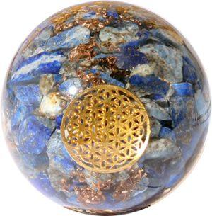 Orgonite Bol Lapis Lazuli with Flower of Life