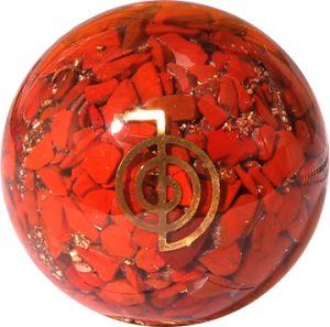Orgonite Bol Red Jasper with Reiki