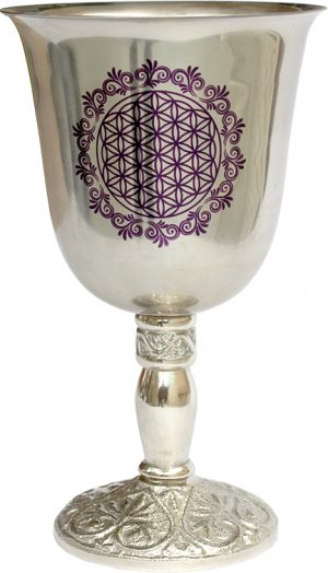 Large Cup - with Print - Flower of Life - Purple