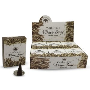 Green Tree Incense Cone Californian White Sage (12 packages)