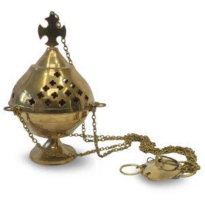Suspended Incense burner Brass (22 cm)