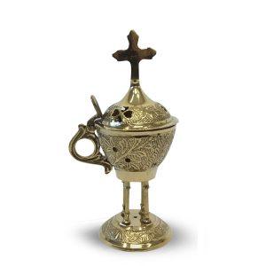 Pyali Incense burner with cross