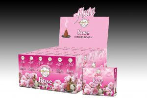 Flute Incense Cone Rose (6 packets)
