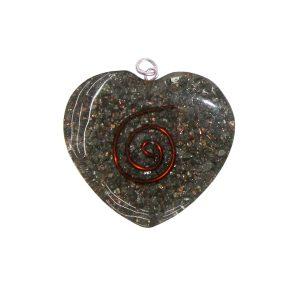 Orgon Hanger Heart - Pyrite