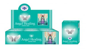 Green Tree Incense Cone Angel Healing (12 packets)