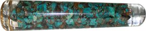 Orgone Massage Rod - Chrysokolla with Flower of Life