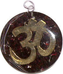 Orgon Pendant  Around OHM Granate