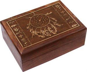 Wooden Jewellery box - Dream catcher