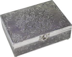 Jewellery box - White Metal - Mandala
