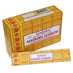 Goloka Incense Nag Champa  (12 packages)