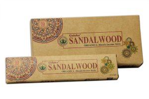 Goloka  Incense Organica Sandalwood (6 packages)