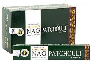 Golden Nag Incense Patchouli  (12 packages)