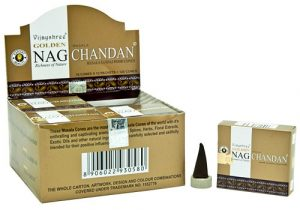 Golden Nag Incense Cone Chandan (12 packets)