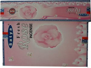 Nag Champa Incense Fresh Rose (12 packets)