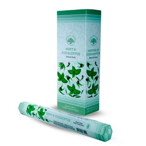 Green Tree Incense Mint and Eucalyptus (6 packets)