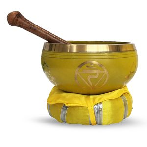 Singing bowl with beater and cushion -  Solar Plexus Chakra - 10 cm